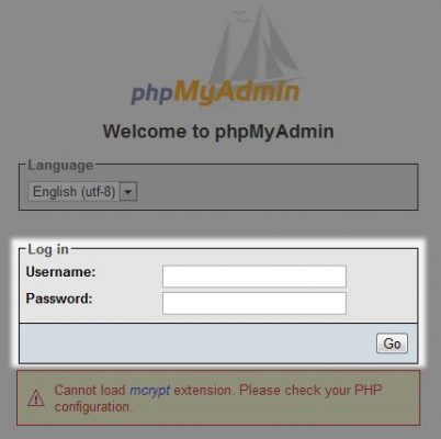 Accedere a PhpMyAdmin