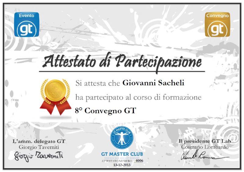 Partecipazione 8° Convegno GT 2013