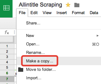 Copiare file Google Doc