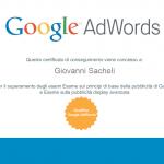 Giovanni Sacheli Consulente Certificato AdWords