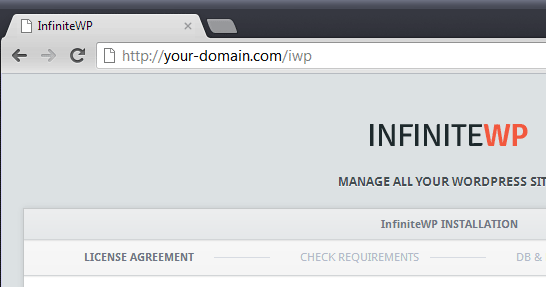 Installare InfiniteWP
