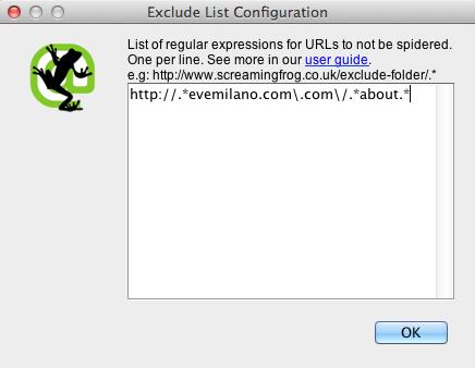 Come Escludere URL dal crawler