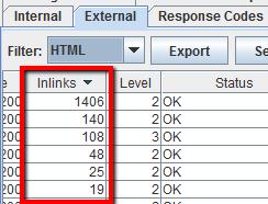contare i link interni