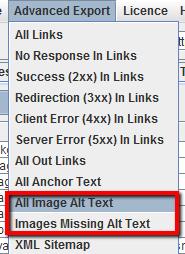 Esportare le informazioni delle immagini