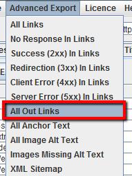 Esportare tutti i link in uscita