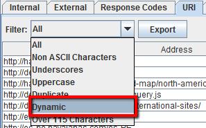 Come trovare URL con parametri