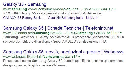 Snippet Google Title tag e Meta Description