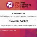 #WMF15 Web Marketing Festival 2015