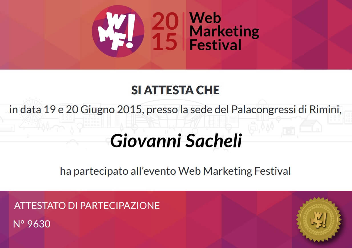 Web Marketing Festival 2015