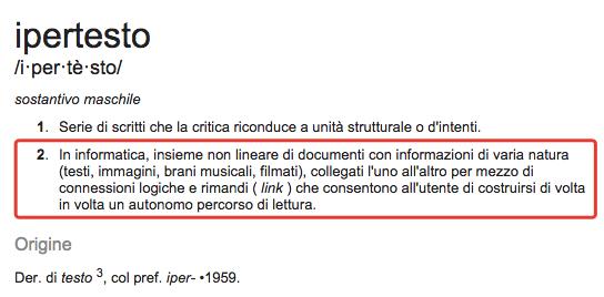 Definizione di Ipertesto su Wikipedia