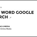 One Word Google Search Webby Awards 2015 - Advertising & Media Winner
