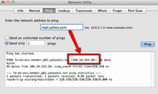 Come seguire il Ping su Mac