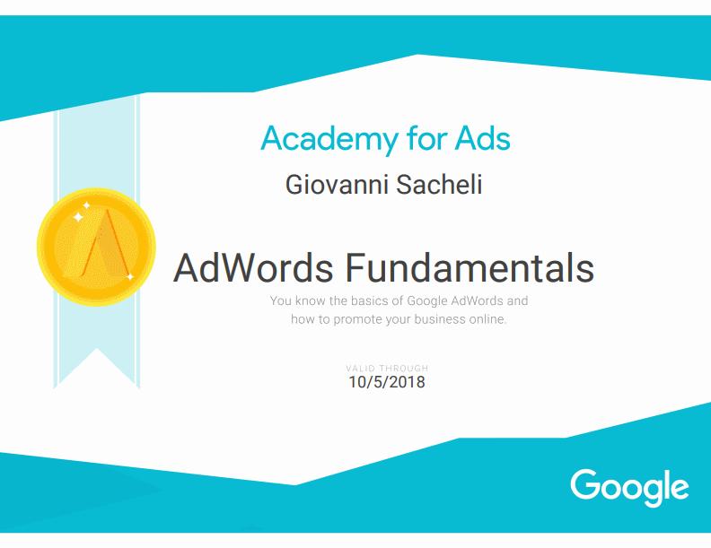 Certificazione Google AdWords 2017