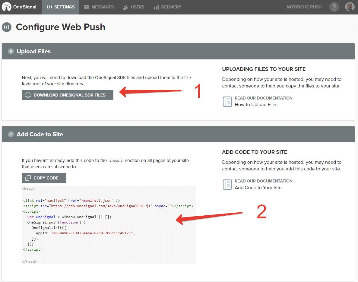 Scarico i file da caricare via FTP e copio il codice da inserire nelle pagine del sito