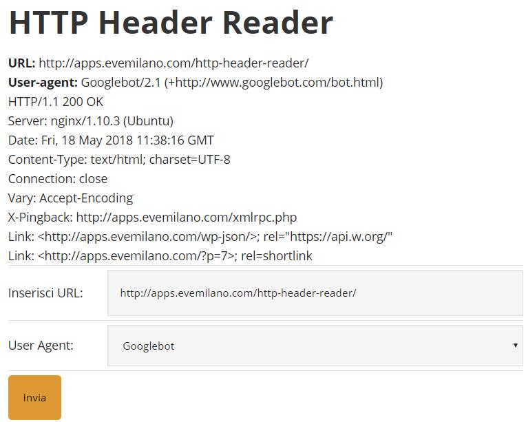 HTTP Header Reader