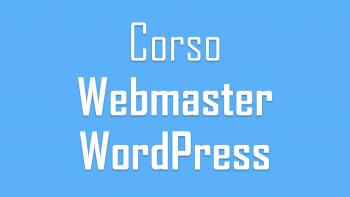Corso Webmaster WordPress