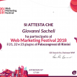 Attestato partecipazione Web Marketing Festival 2018