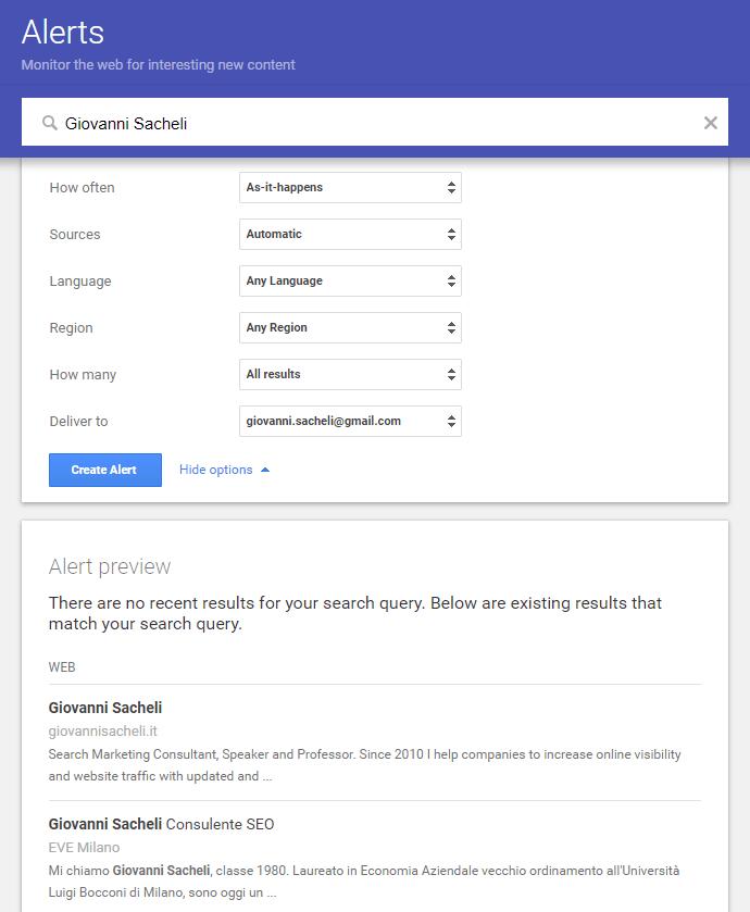 Come funziona Google Alerts