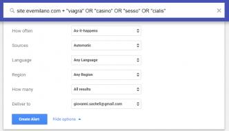Google Alerts per controlli SEO