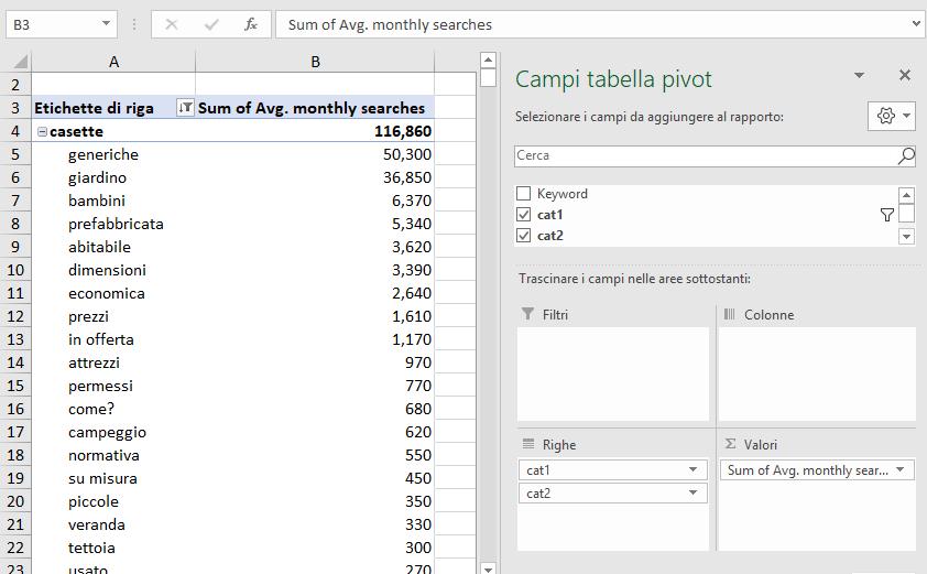 Excel - Tabella Pivot