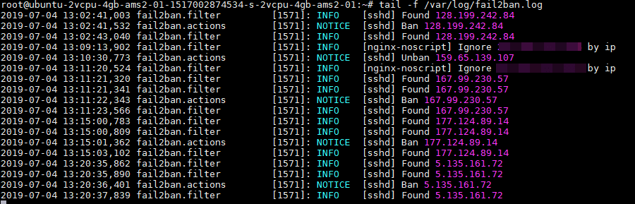 Fail2ban - Monitoraggio