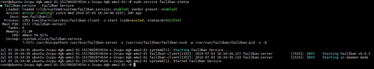 Fail2ban - Status