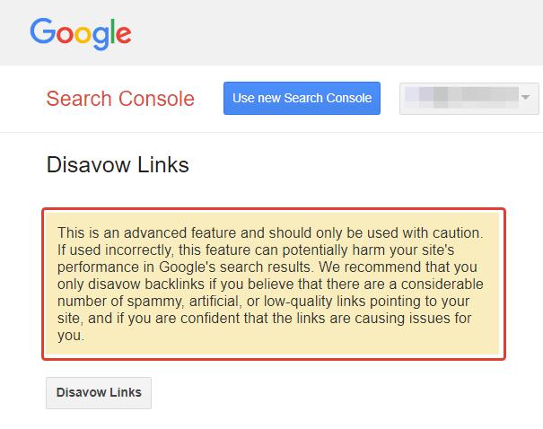 Guida Disavow Tool Google