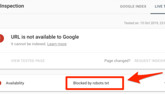 Cosa significa blocked by robots.txt