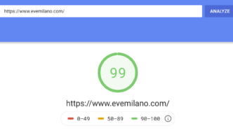 PageSpeed evemilano.com