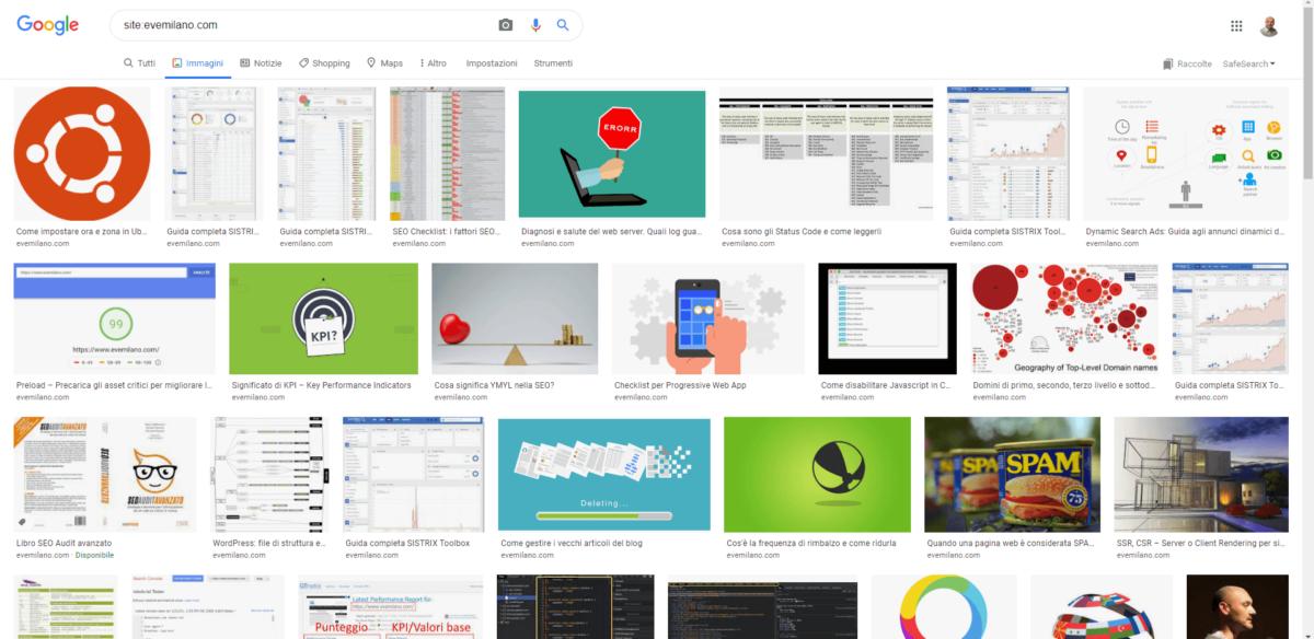 Come verificare l'indicizzazione delle immagini su Google