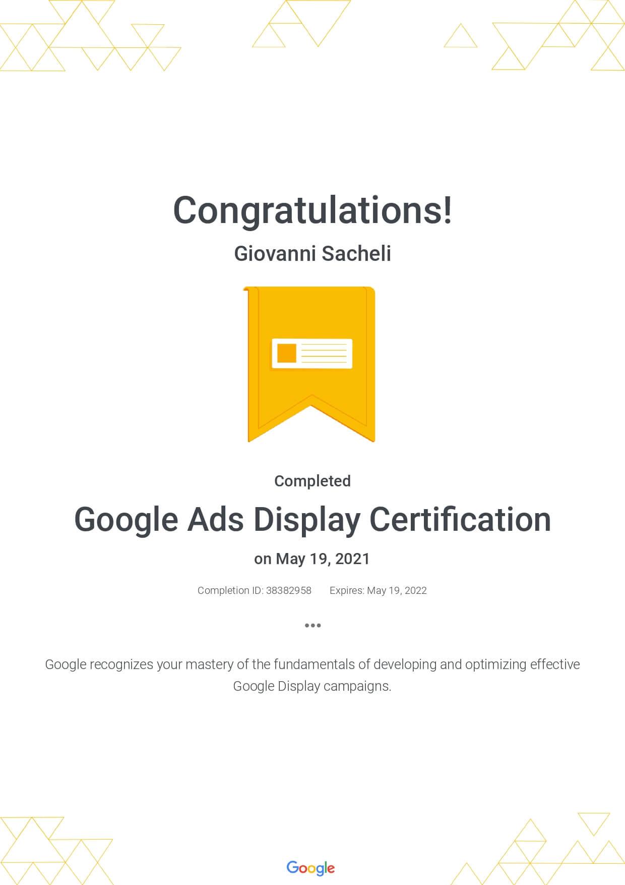 Google Ads Display Certification 2021