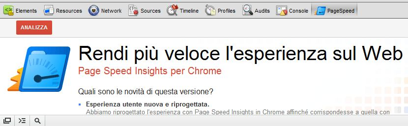 Estensioni Chrome: Pagespeed