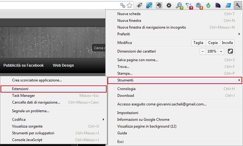 Estensioni Google Chrome