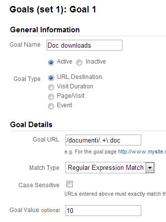 Tracciare downloads con Google Analytics